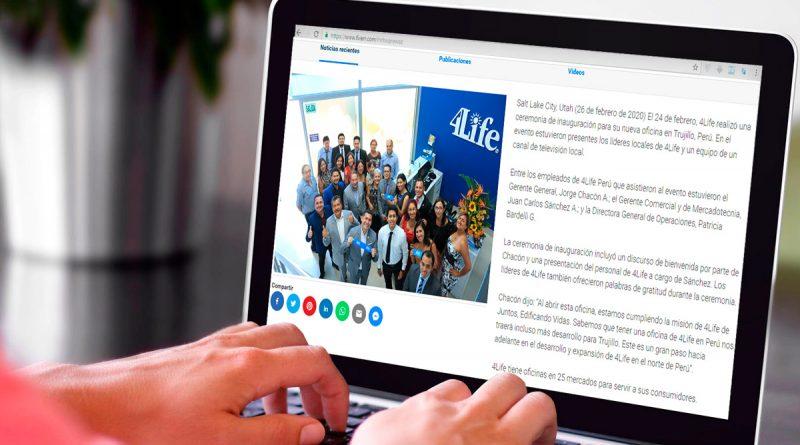 Inaugurada nueva oficina de 4Life en Perú