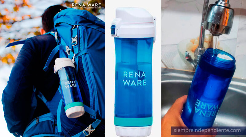 ✅ El filtro de agua más pequeño y más portátil: la botella filtrante