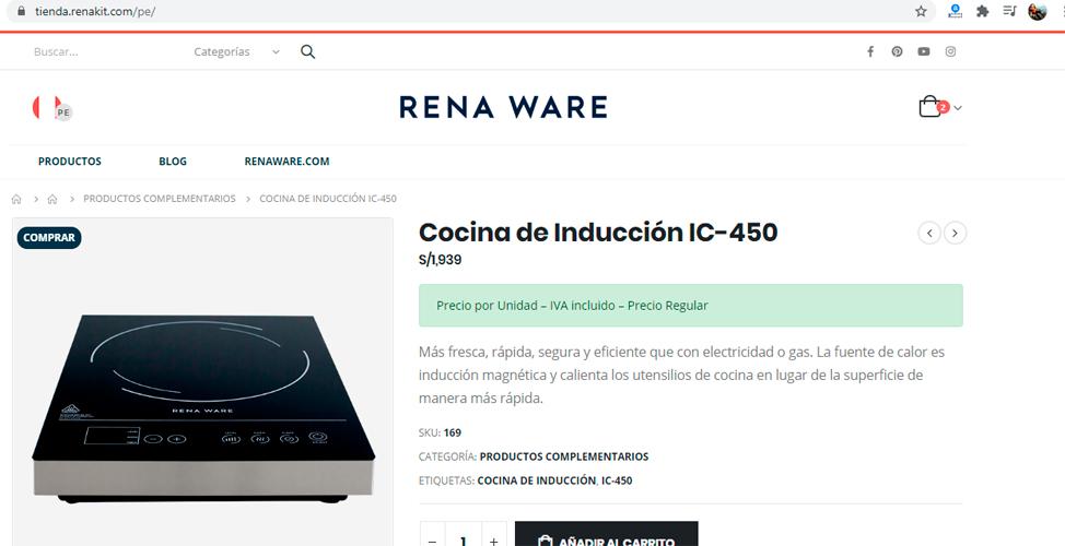 La nueva cocina Rena Ware de inducción