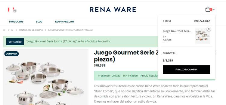 Cómo comprar ollas Rena Ware en Perú
